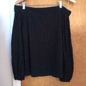 Loft off shoulder black shirt